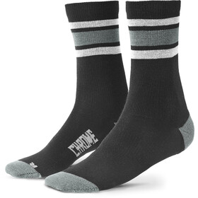 Chrome Merino Crew Socks Men black/castle rock